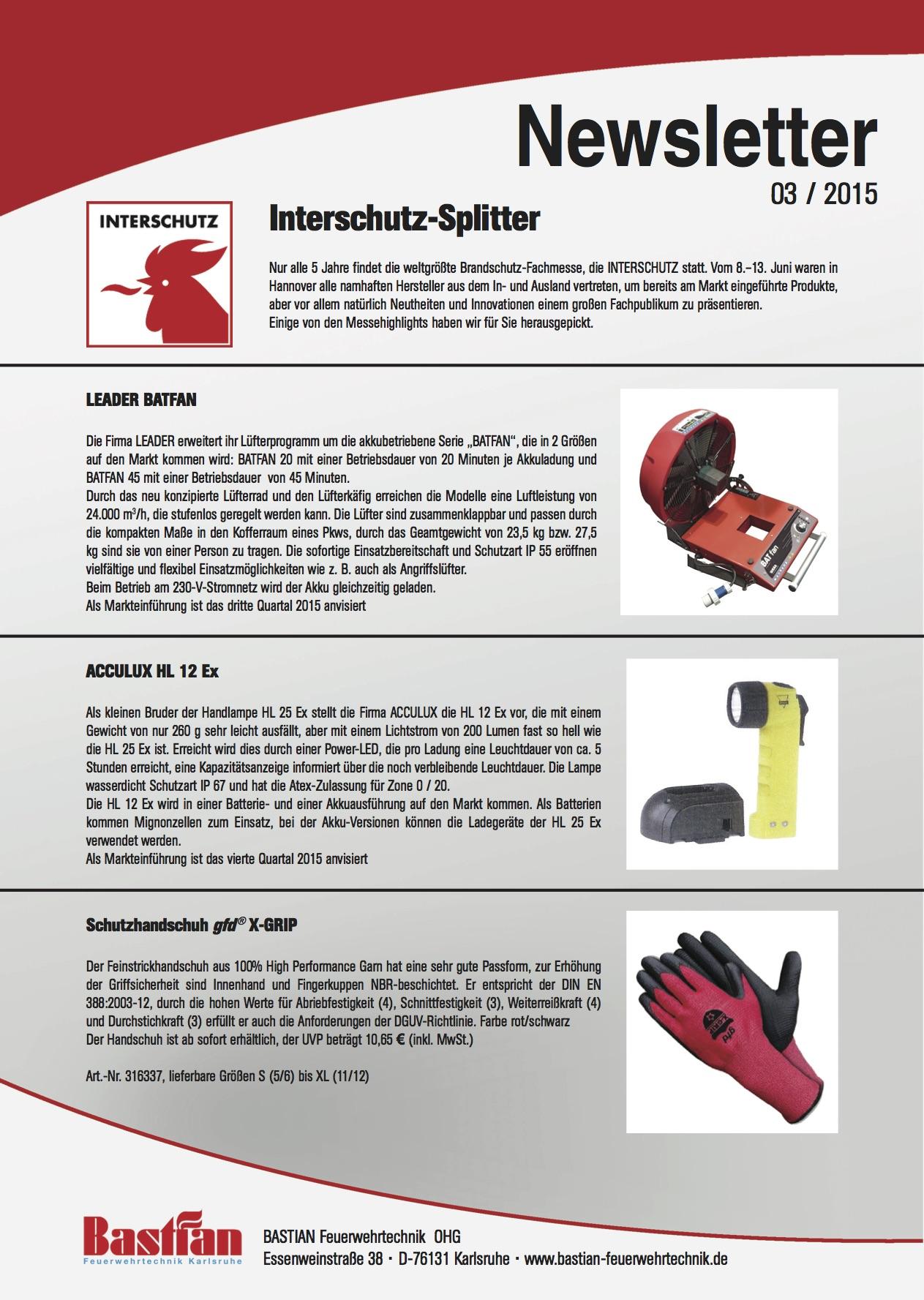 Bastian Newsletter 2015-03