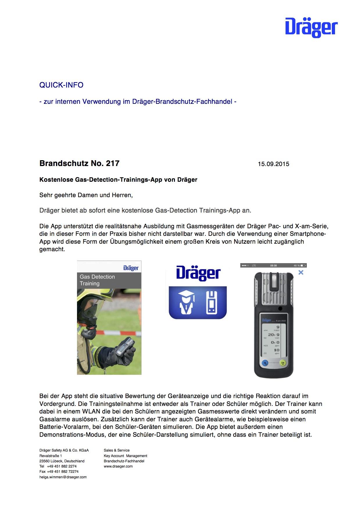Kostenlose Gas-Detection